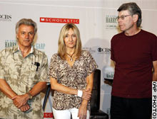 John Irving, J.K. rowling, and Stephen King at Radio City Music Hall; copyright CNN.