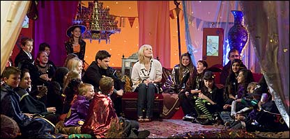 JK Rowling on the blue Peter Show, July 20, 2007.